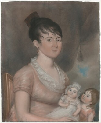 Anna Margaret Blake and Her Two Children