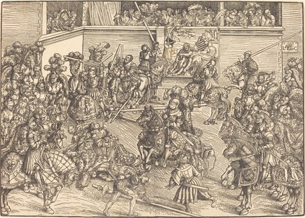 The Second Tournament with the Tapestry of Samson and the Lion