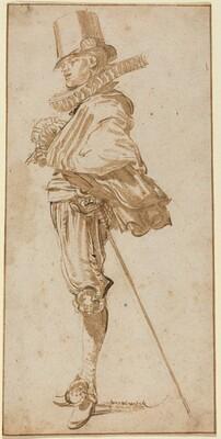 Standing Cavalier Wearing a Sword
