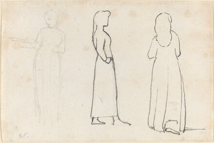 Three Sketches of a Standing Woman