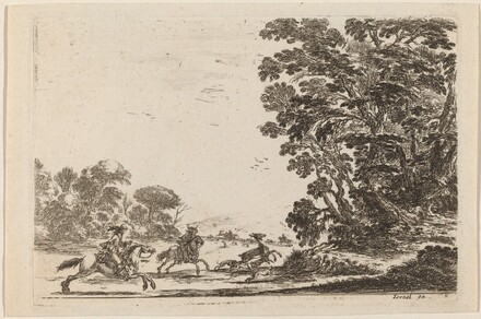 Forest with Deer Hunt