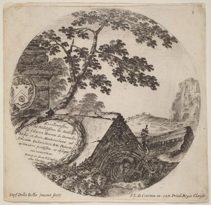 Title Page for Paysages et ruines de Rome
