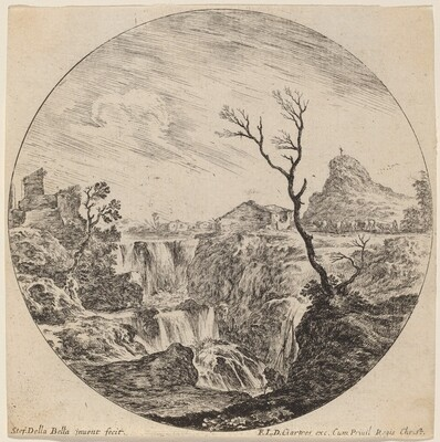 Waterfall with Three Tiers