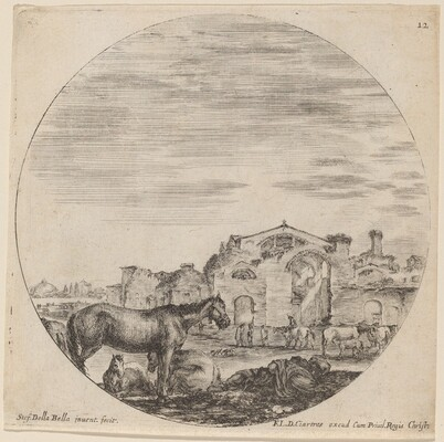 Baths of Diocletian and Shepherd Sleeping