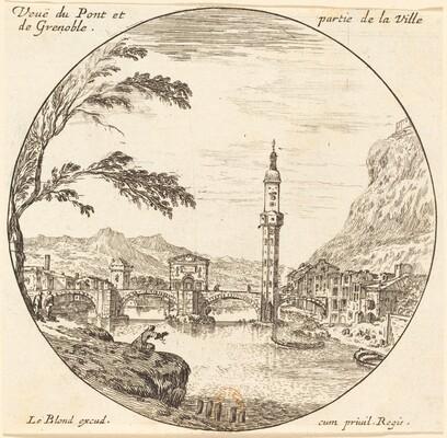 Veue de Pont et partie de la Ville de Grenoble