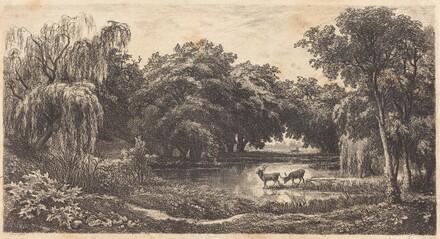 Pool with Deer (La Mare aux cerfs)