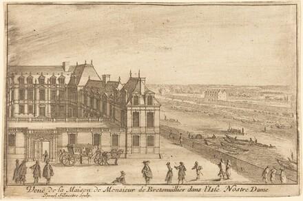 Veue de la Maison de Monsieur de Bretonuillerdans l'Isle Nostre Dame