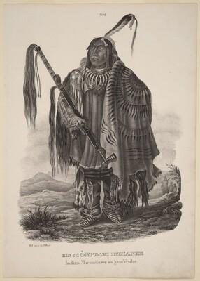 Ein Monitari Indianer
