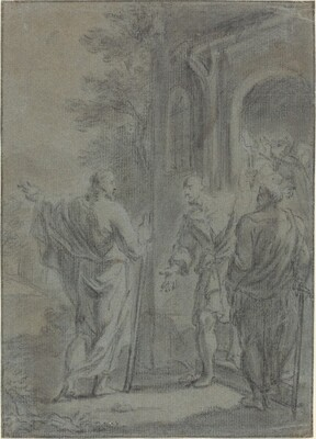Figures (Christ Calling One of the Apostles?)
