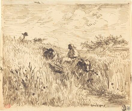 Path through a Wheat Field (Sentier dans les bles)