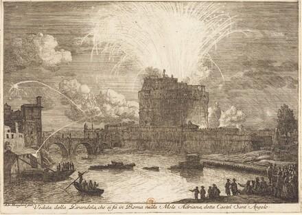 Veduta della Girandola a Castel Sant'Angelo (Fireworks Display over the Castle Sant'A