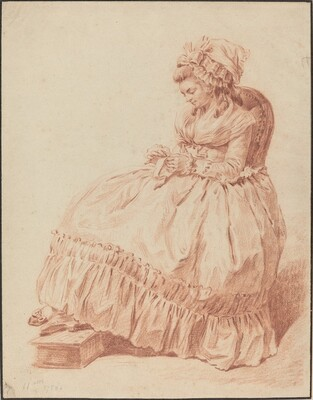 Seated Woman Sewing