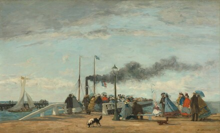 Jetty and Wharf at Trouville
