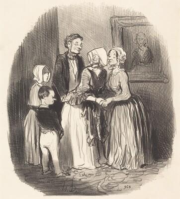 Au novel an, visite... a la tante Rabourdin