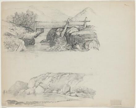 Bridge over Rocky Stream [top verso]