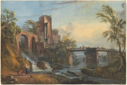 Dawn Landscape with Classical Ruins