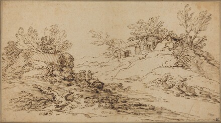 Rocky Landscape with a Rustic House
