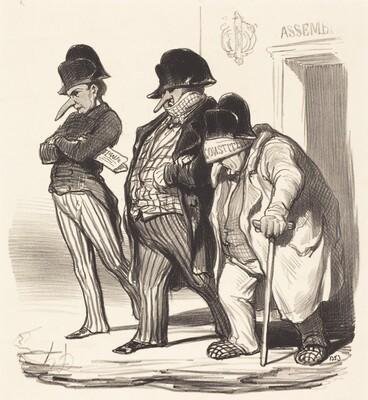 Les Journaux Napoléoniens sortant de l'Assemblée Nationale...