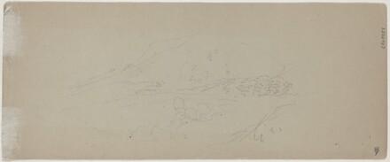 View of a Mountain [verso]