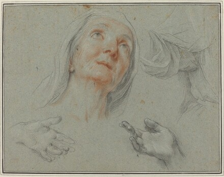 Studies for Saint Anne in Education of the Virgin