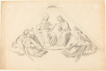 Christ and the Virgin with Music-Making Angels