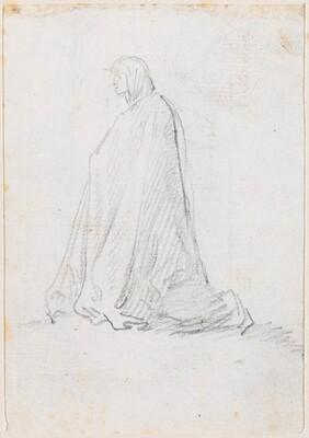 Kneeling Figure in a Hooded Robe [verso]