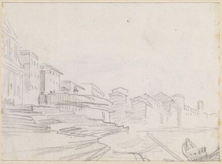 Buildings along a Riverside [verso]