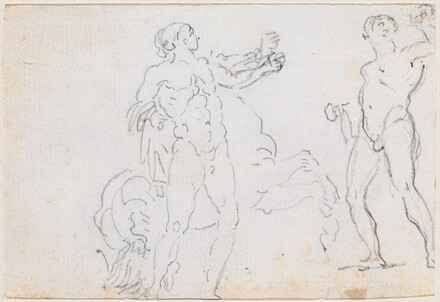 Two Studies of the Statue of Alexander and Bucephalus [verso]