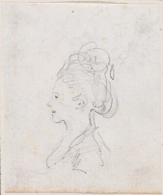 Young Woman's Head in Profile