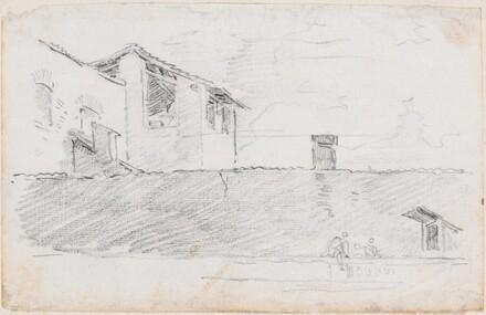 Housetops behind a Wall