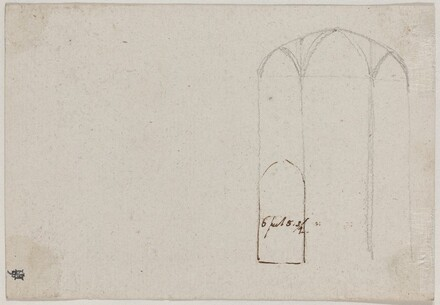 Cross Section of a Gothic Church [verso]