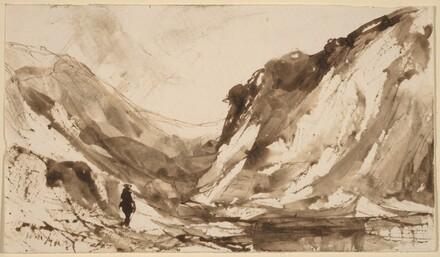 Deep Valley in Mountainous Landscape