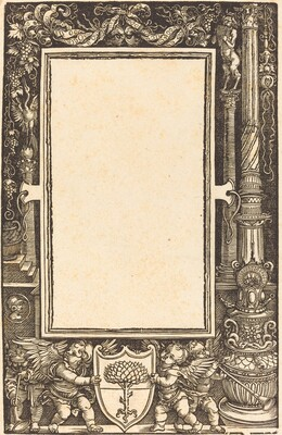 Title-Border with Putti Holding the Pirckheimer Arms