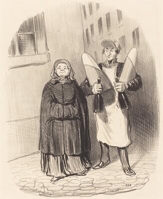Madame Chapotard se disposant a faire ses confitures