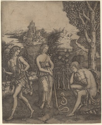 Serpent Speaking to a Young Man