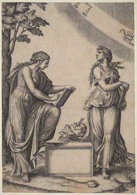 Two Women with the Zodiac