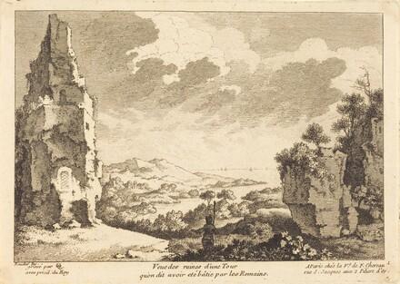 Veue des ruines d'une Tour qu'on dit avoir ete batie par les Romains