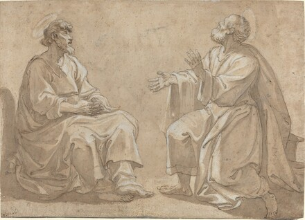 Two Seated Saints