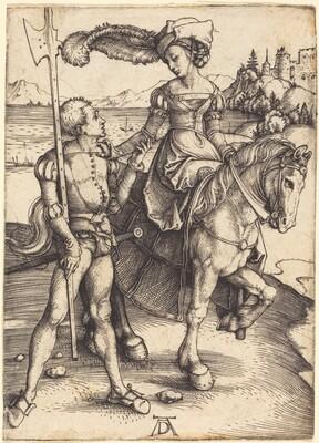 Lady on Horseback and the Lansquenet