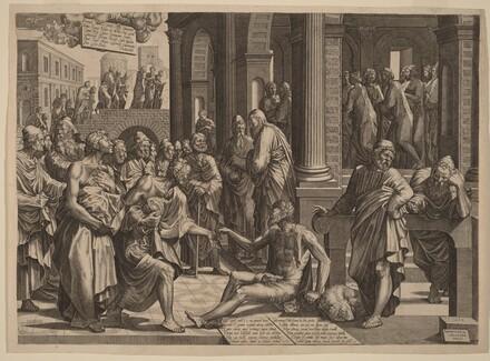 Apostles Peter and John Healing the Paralytic