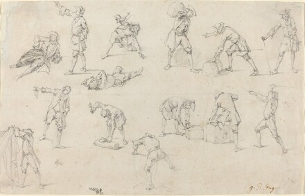 Studies of Soldiers in Camp