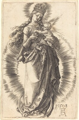 The Virgin and Child on a Crescent with a Starry Crown