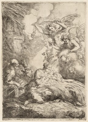 The Holy Family Adored by Angels (The Large Nativity)