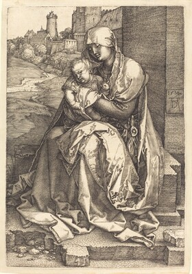 The Virgin and Child Seated by the Wall