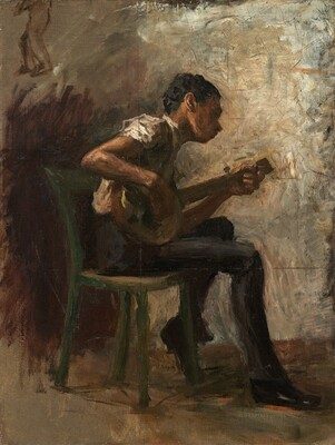 Study for  Negro Boy Dancing : The Banjo Player