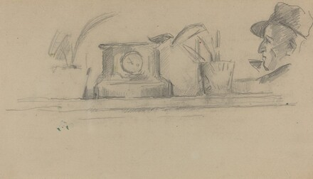The Artist's Father and Objects on a Mantel [verso]
