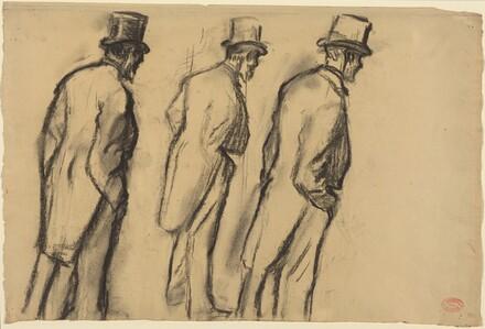 Three Studies of Ludovic Halevy Standing