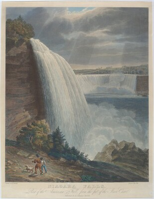 Niagara Falls: Part of the American Fall, from the Foot of the Stair Case