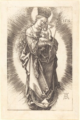 The Virgin and Child on a Crescent with a Sceptre and a Starry Crown