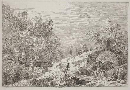 Mountain Landscape with Five Bridges [lower right]